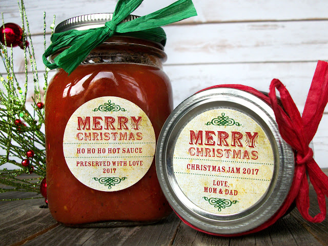 custom vintage merry christmas canning jar labels