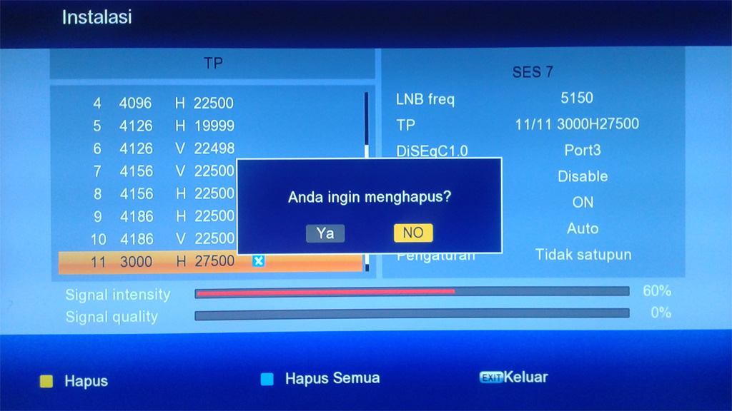 Cara Ganti dan Hapus Transponder Matrix Burger S2 HD