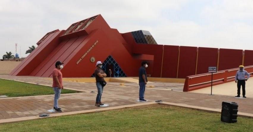 Desde hoy el museo Tumbas Reales de Sipán - Lambayeque, atiende en horario reducido