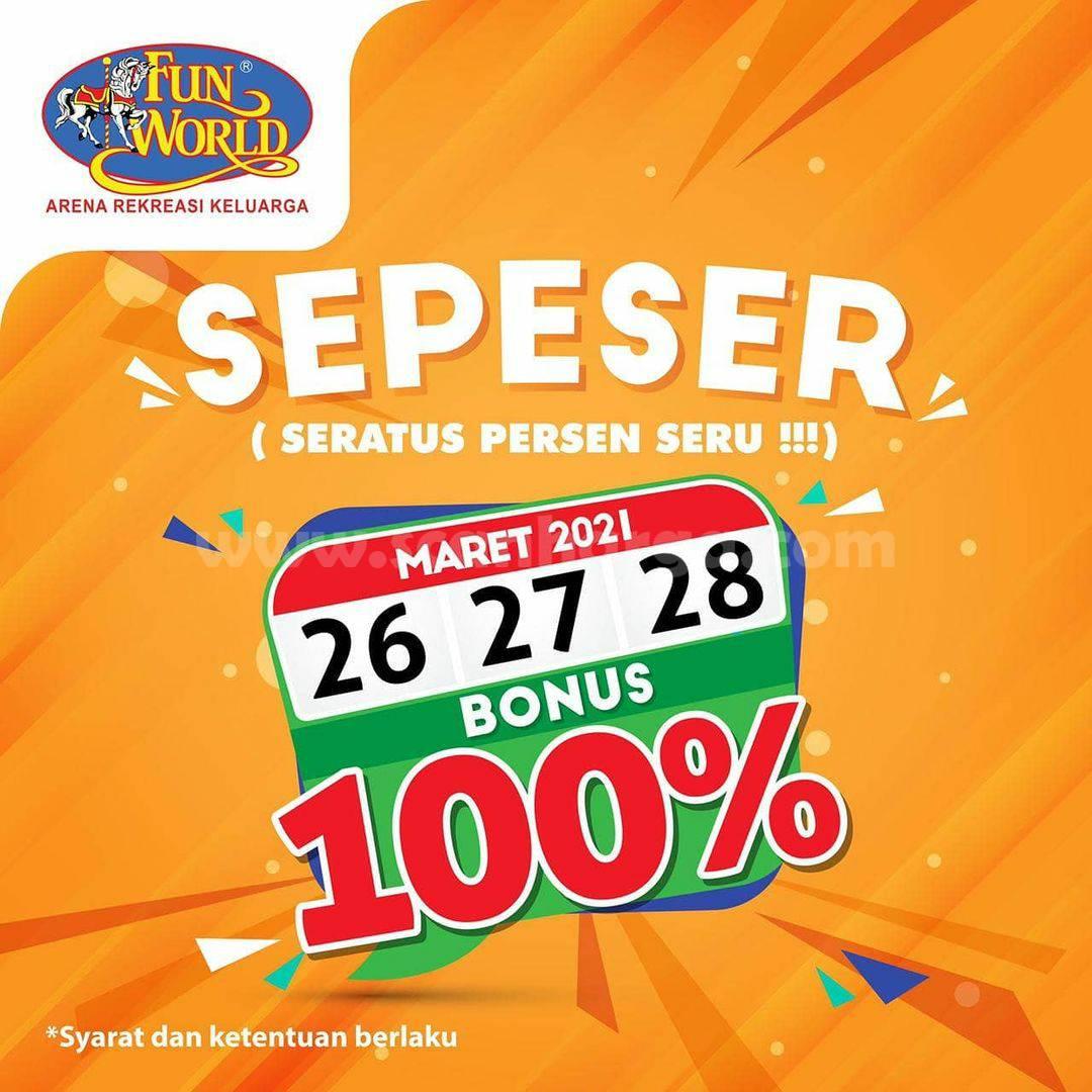 Promo FUNWORLD SEPESER – SPESIAL BONUS SALDO 100%