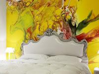 Wandgestaltung Schlafzimmer mit Farbe