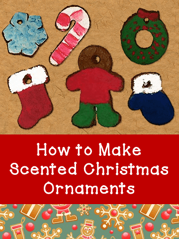 Learn how to make cinnamon scented Christmas ornaments from applesauce and ground cinnamon. Recipe included. Perfect gifts for children to give.  #kellysclassroomonline