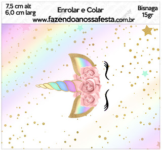 graphic regarding Free Printable Unicorn Template named Unicorn and Rainbow: Absolutely free Printable Sweet Bar Labels. - Oh