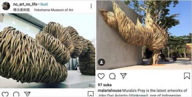 karya seni bambu di luar negeri