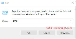 Cara membuka command prompt
