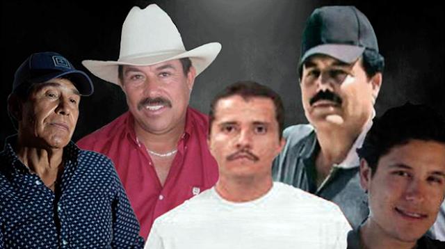Lista estos son los 5 Narcotraficantes más buscados por la DEA