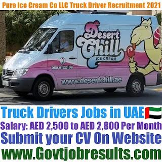 Pure Ice Cream Co LLC Truck Driver Recruitment 2021-22