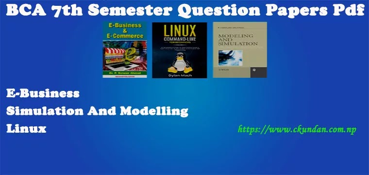 BCA 7th Semester Question Papers Pdf