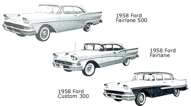 Identifikasi sedan Ford 1958