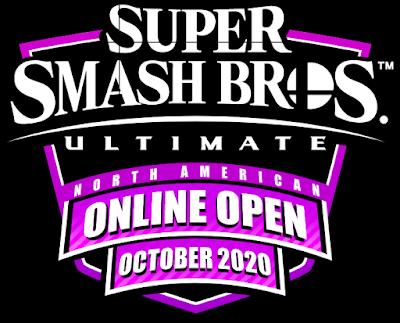 Super Smash Bros. Ultimate North American Online Open October 2020 logo purple