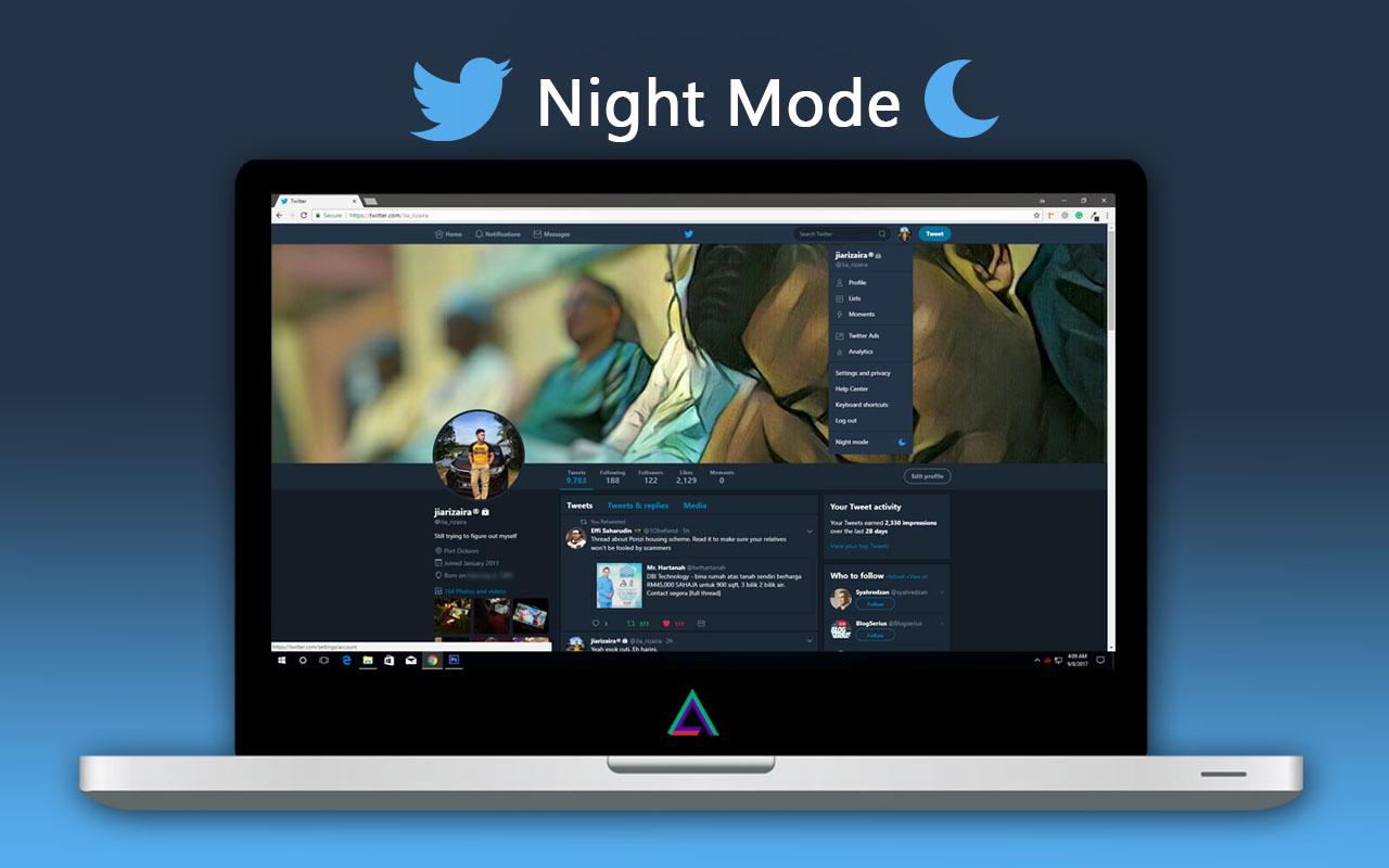 Twitter Night Mode Dengan Rasminya Telah Dilancarkan