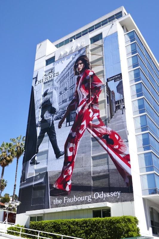 Giant Hermès Faubourg Odyssey S21 billboard