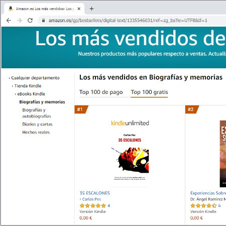 ebook 35 ESCALONES best seller número #1 en los lisbros más vendidos de Amazon gratis