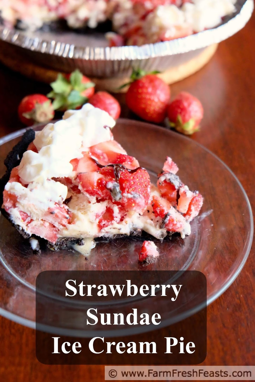 Fresh Strawberry Sundae Ice Cream Pie takes the flavor of a strawberry ...
