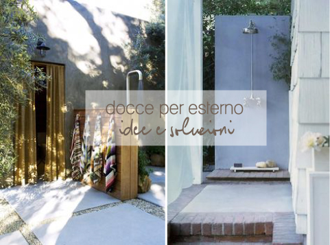 Docce per esterno blog di arredamento e interni dettagli home decor - Docce da giardino in muratura ...