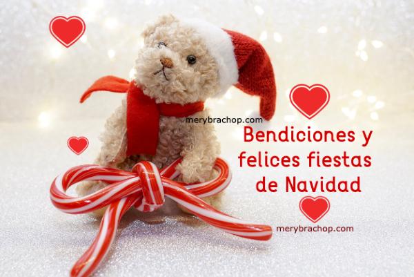 osito de navidad saludos bendiciones feliz navidad tarjeta por mery bracho