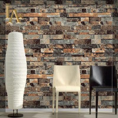 Desain Interior Dinding Batu Alam