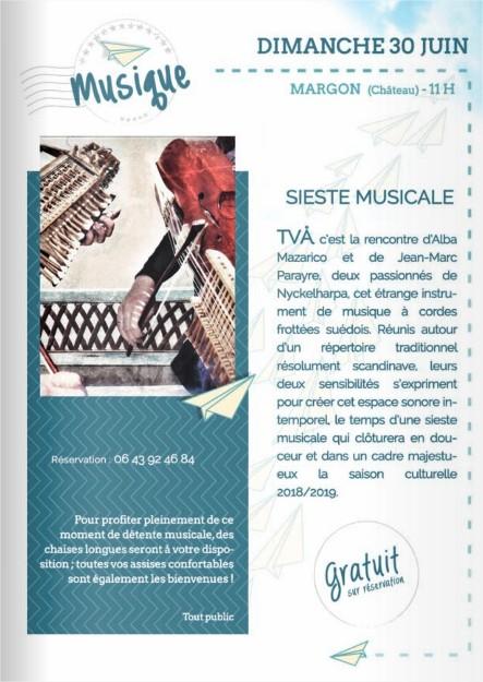 Concert TVA au château de Margon (30 juin à 11h)