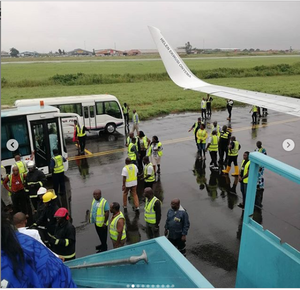 "Breaking: Tragedy Averted As Plane ""Crash Lands""  Today At The Lagos Airport"