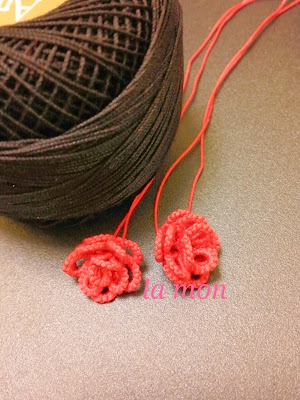 3d tatting rose