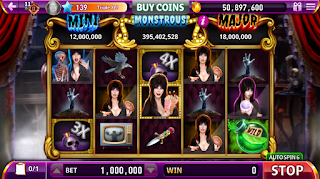 Gaming screen #2 of Elvira Busting Out at Hit It Rich Slots