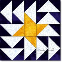 Starlight Geese quilt block image © W. Russell, patchworksquare.com