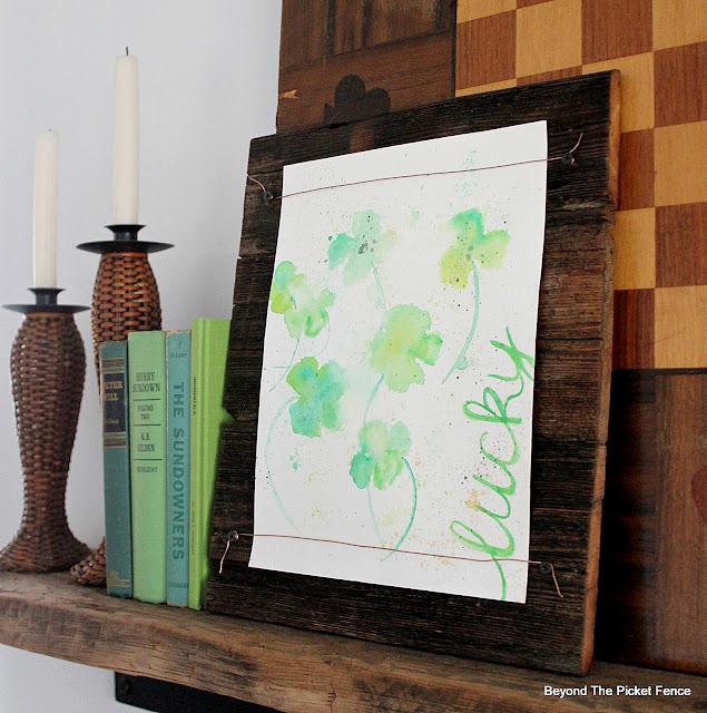 Simple Spring Mantel Ideas