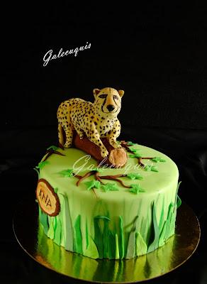guepardo modelado fondant