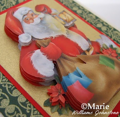 Santa Claus on a handmade card