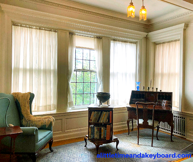 Marjorie's Room inside Glensheen features a bookshelf that turns!