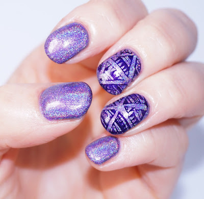 Color Club - Eternal Beauty Nails, lila, purple, Holo-Lack, Hologramm, Nagellack Stamping