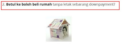 Tak ada duit pun boleh booking rumah baru sebuah.