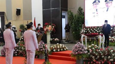 Gubernur Olly Dondokambey Lantik Walikota dan Wakil Walikota Manado Periode 2021 - 2024