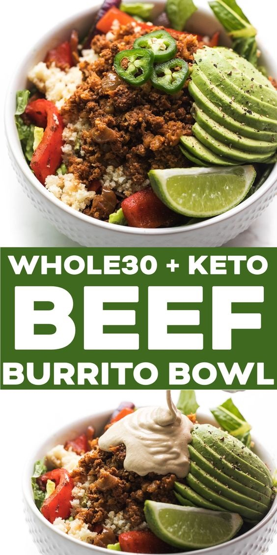 Whole30 Ground Beef Burrito Bowl