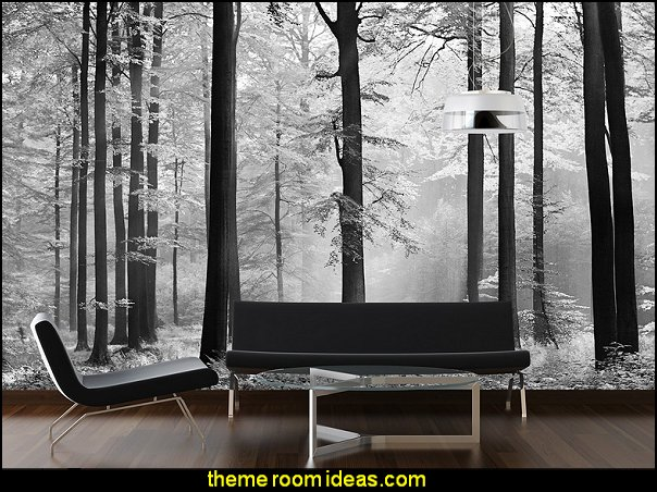 forest wall mural Komar DM115 Ideal Decor Avalon 8-Panel Wall Mural