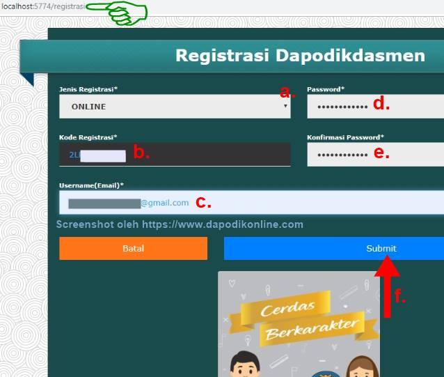 Cara registrasi dapodik secara online