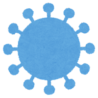 コロナウイルスの変異株のイラスト2