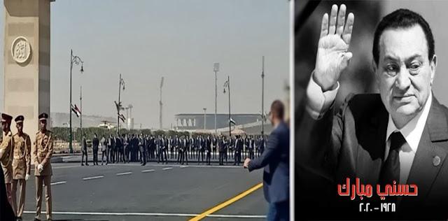 جنازة حسني مبارك - فيديو جنازة الرئيس محمد حسني مبارك من مسجد المشير طنطاوي