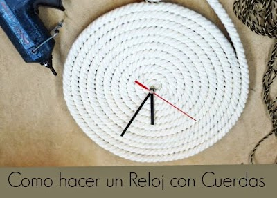 Diy Reloj de Pared con Cuerda