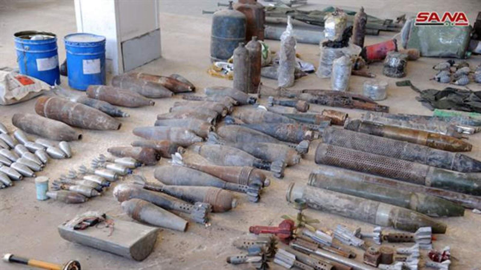 Pasukan pemerintah Suriah menemukan bom, granat buatan Israel dekat Damaskus