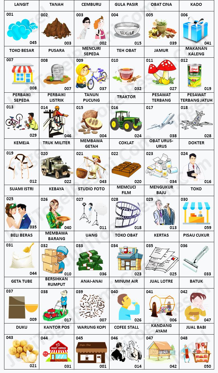 Buku Mimpi 3D Bergambar 001-050
