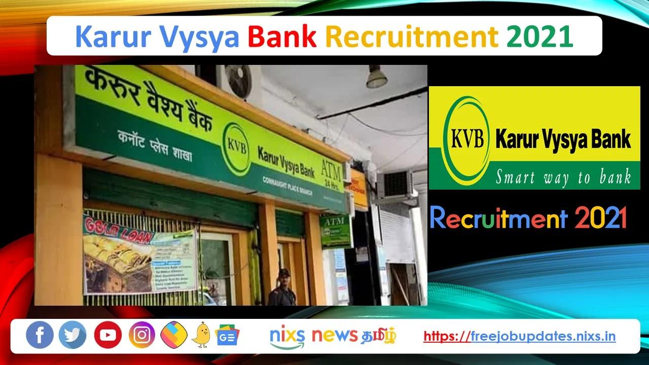 Karur Vysya Bank Recruitment 2021 Business Development Associate Posts - Apply Online