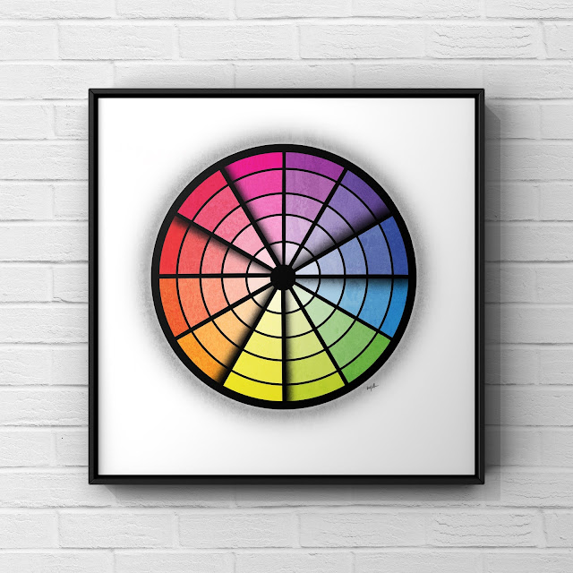 Triadic colour wheel art by Mark Taylor