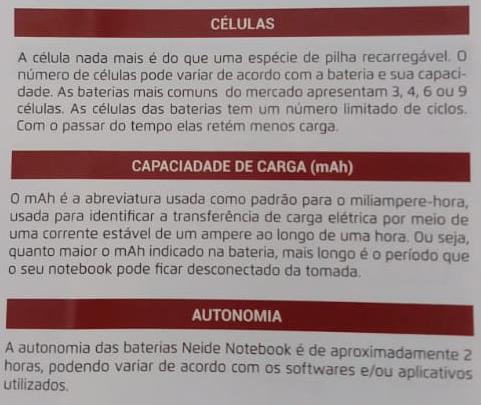 bateria notebook celulas capacidade autonomia