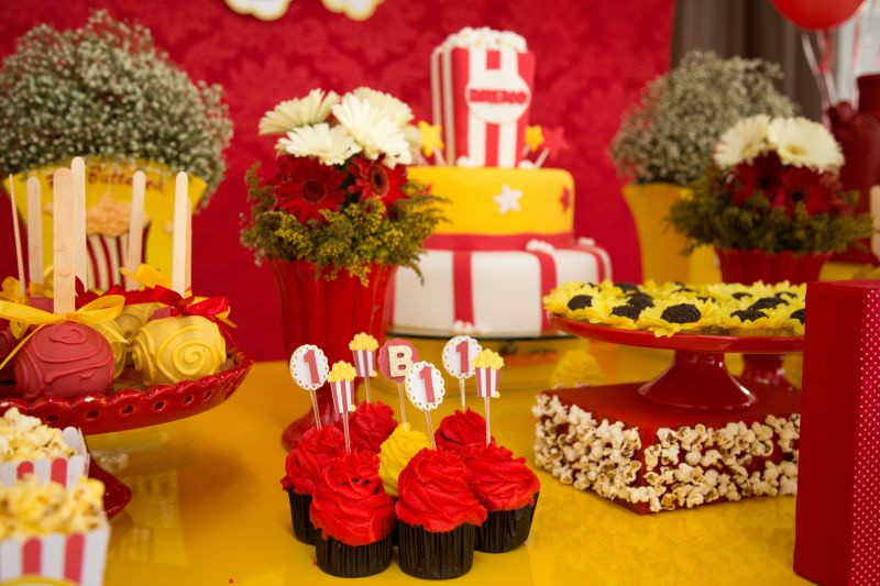 pipoca festa cupcake candy party