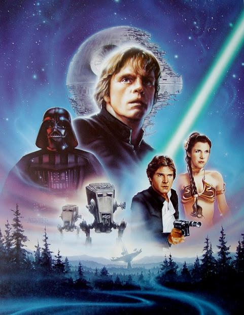 Geeky Nerfherder Movie Poster Art Star Wars Return Of Jedi 1983