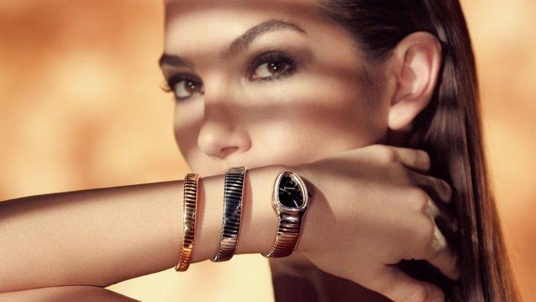 Lily Aldridge for Bulgari Serpenti Jewelry