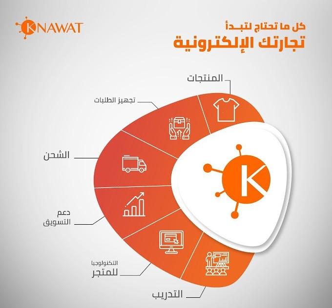 كل ما تحتاج لتبداء تجارتك الالكترونية مع Knawat