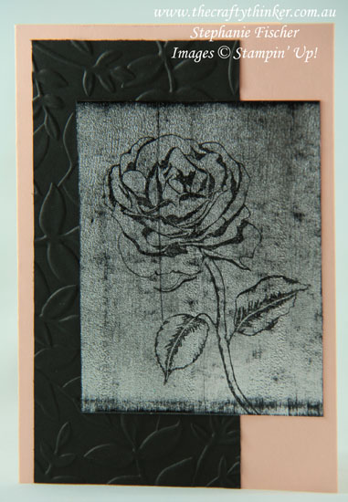 #thecraftythinker #stampinup #cardmaking #rubberstamping #blackice , Black Ice Technique, Graceful Garden, Sneak Peek, Stampin' Up Australia Demonstrator, Stephanie Fischer, Sydney NSW