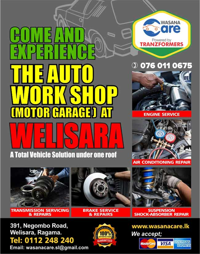 Wasana Care | the Auto Workshop (Motor Garage) at Welisara.